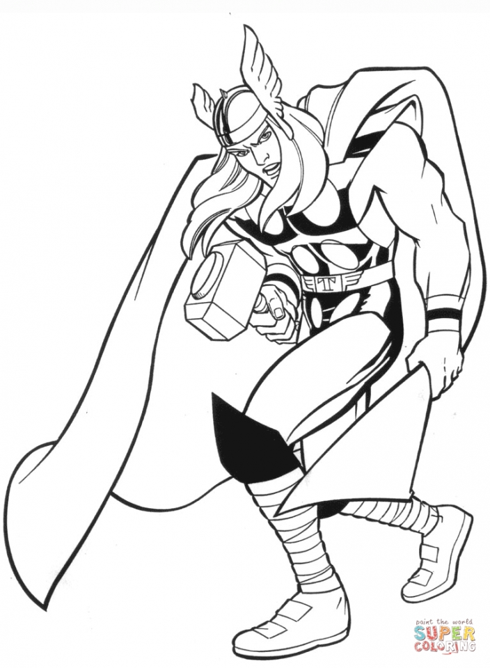 Printable Marvel Coloring Pages Thor   uena2