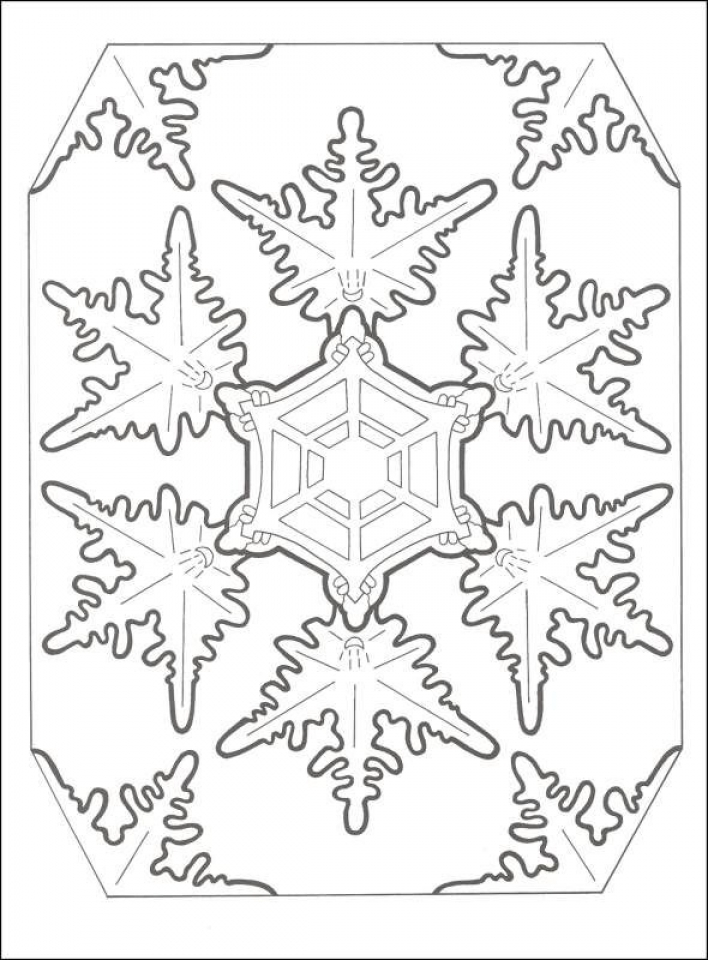 Get this printable snowflake coloring pages for adults 33617 for Snowflakes printable coloring pages