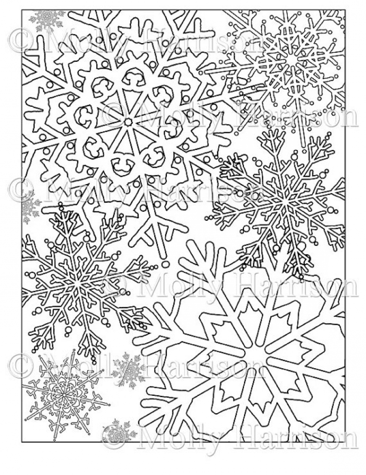 Get this printable snowflake coloring pages for adults 67491 for Snow coloring pages free
