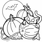Pumpkin Halloween Coloring Pages for Preschoolers   67301