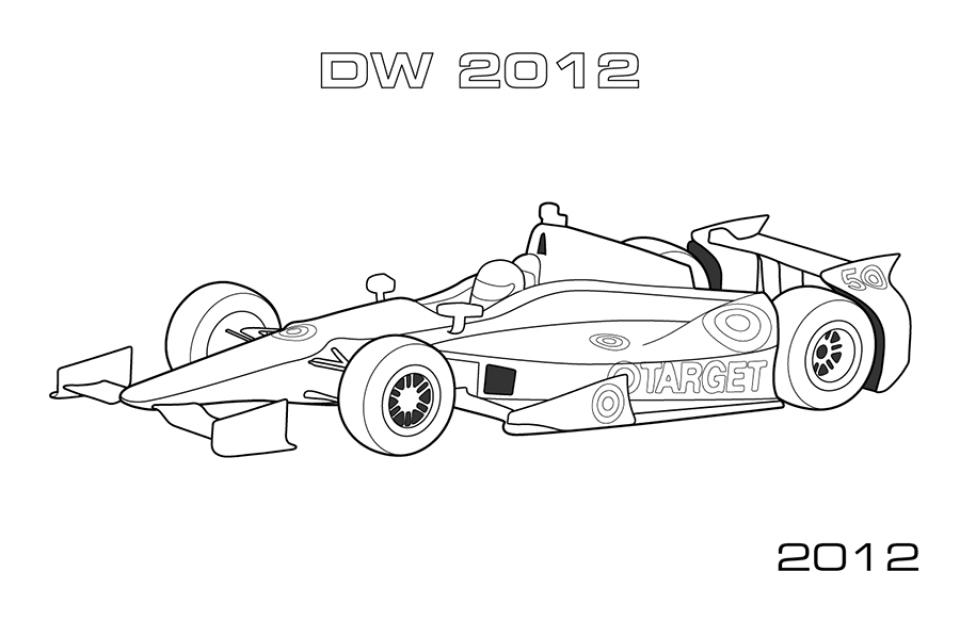 kleurplaat raceauto bull le logo de bulls de new