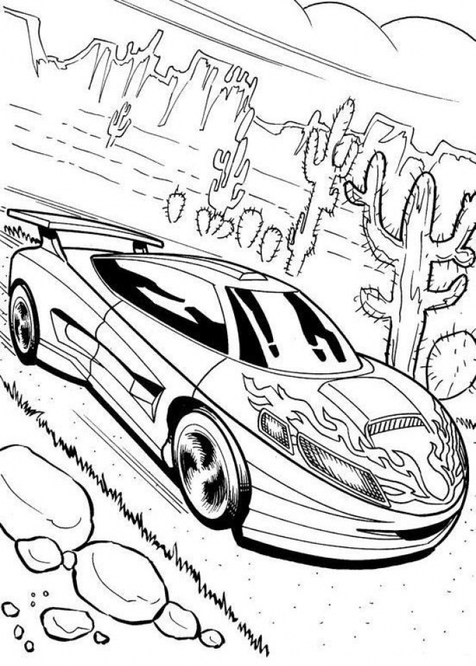 20 Free Printable Race Car Coloring Pages