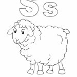 s for sheep coloring page with handwriting practice download