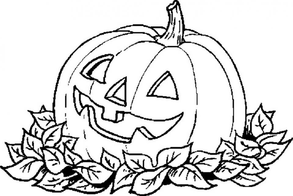 Get This Scary Pumpkin Coloring Pages For Halloween 72519