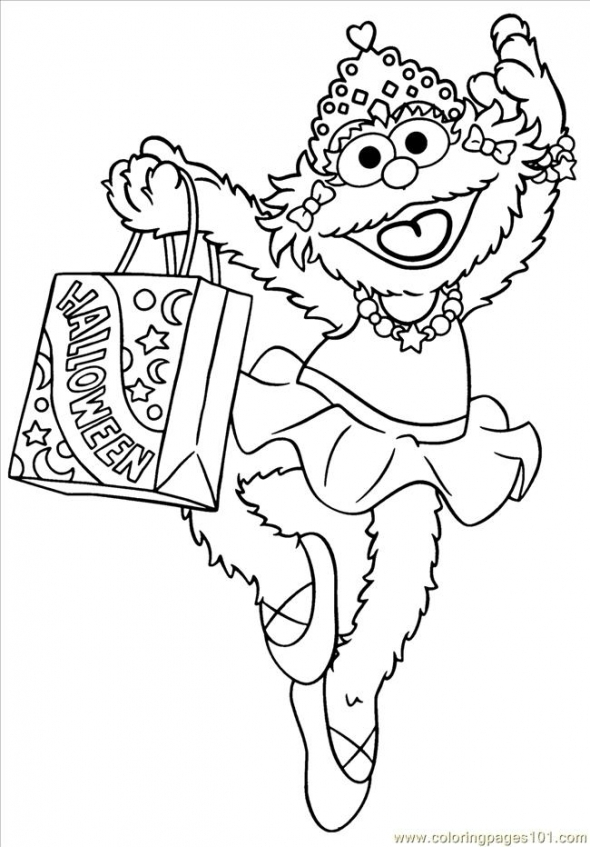 Sesame Street Coloring Pages for Kids   ga64m