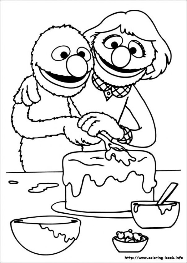 Sesame Street Coloring Pages Free   38600