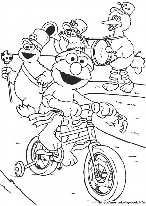 Sesame Street Coloring Pages Printable   7cv40