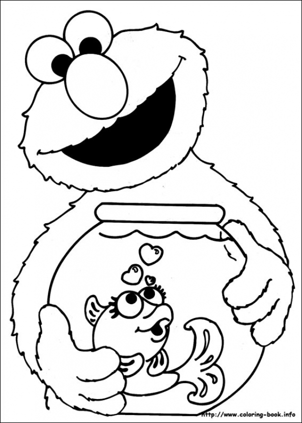 Big Bird Christmas Coloring Pages  Sesame Street Kids Learn Colors