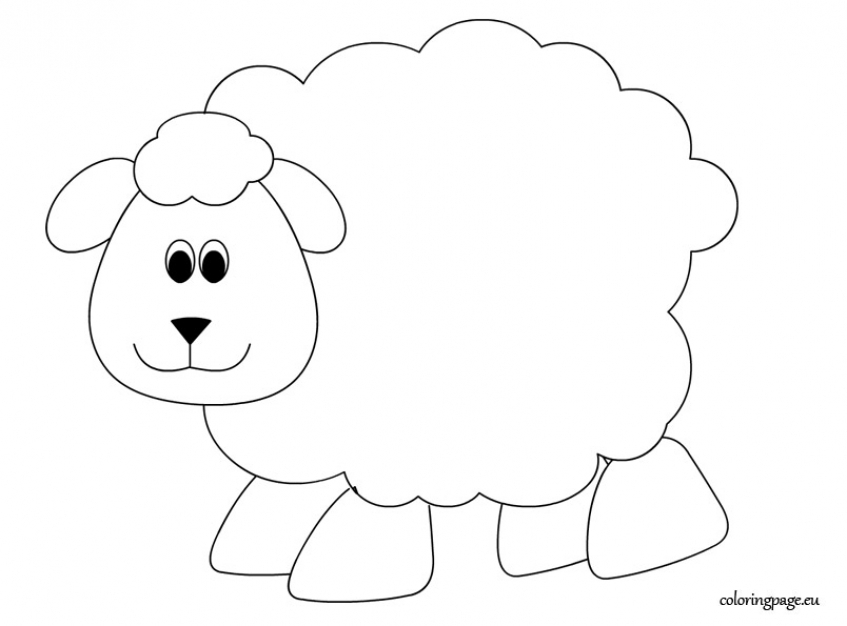 Sheep coloring pages free   gaw7d