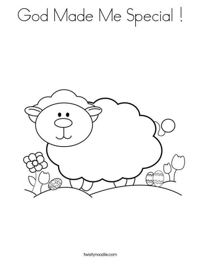 Sheep coloring pages preschool   wmk69