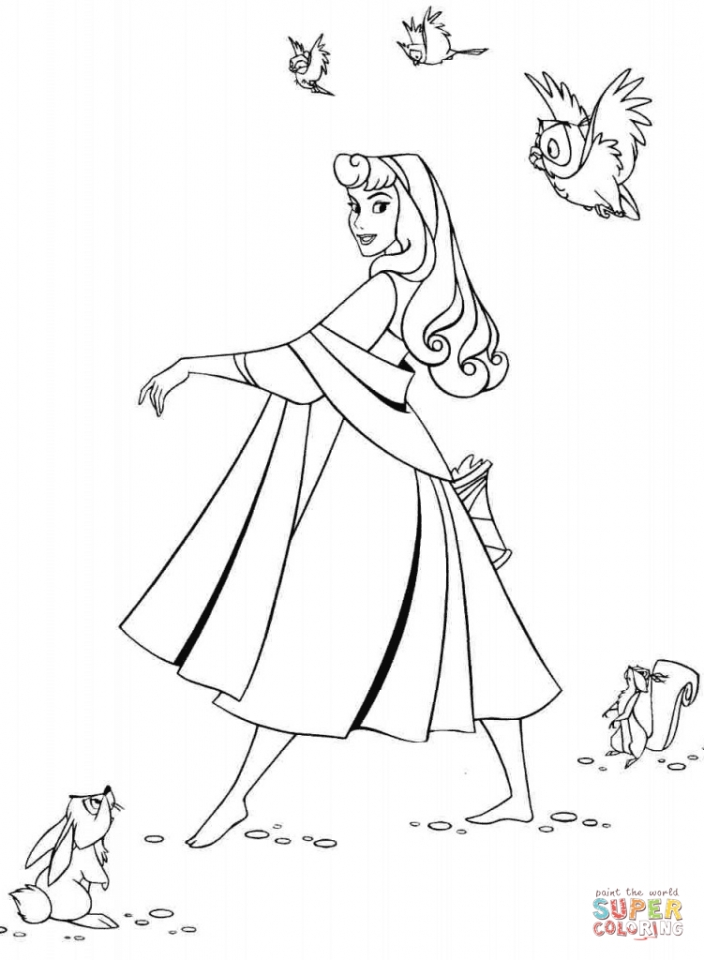 Sleeping Beauty Coloring Pages Online   0t5hrf