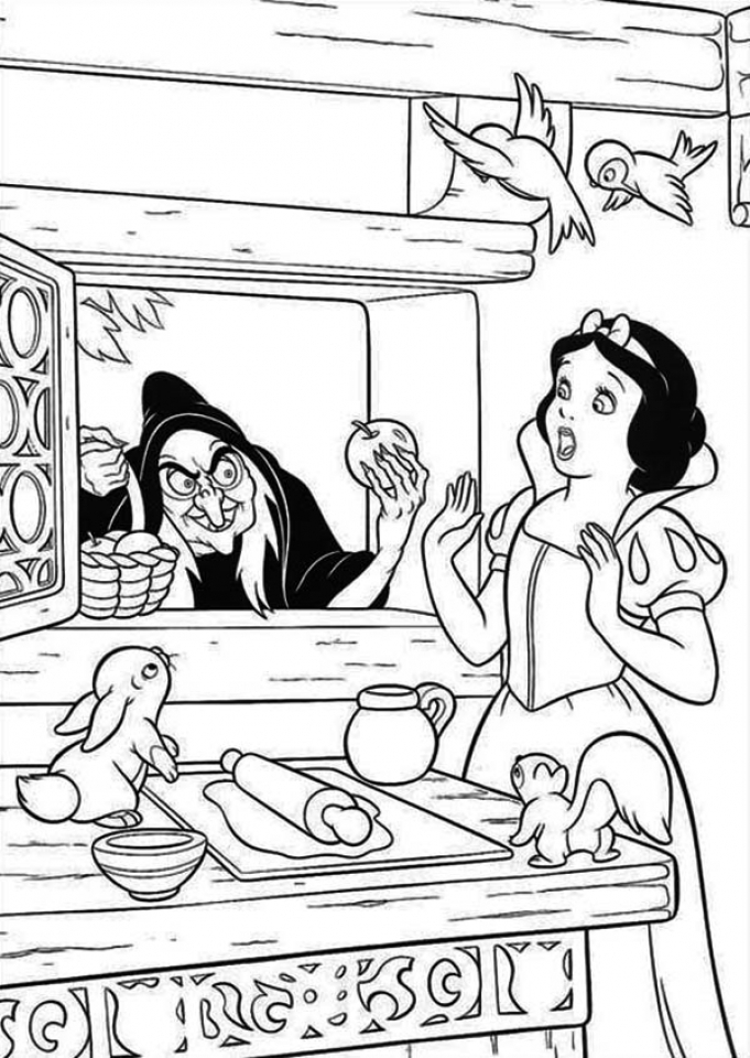 Snow White Coloring Pages for Girls   at2bt