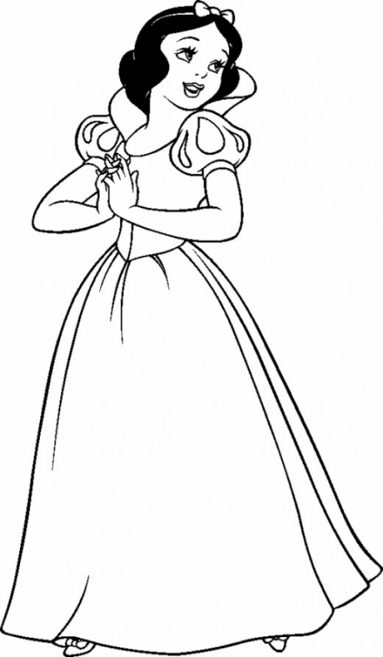 Snow White Coloring Pages Free   at3bx
