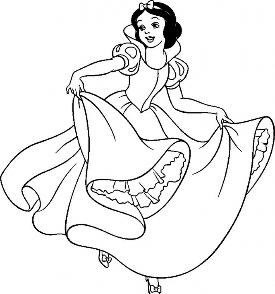 Snow White Coloring Pages Printable   at20l