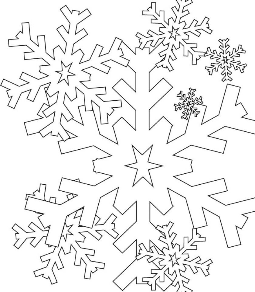Snowflake Coloring Pages for Preschoolers   37184