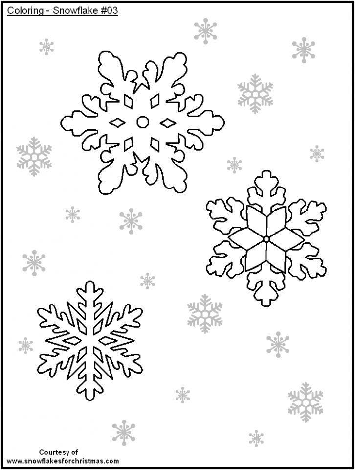 Get This Snowflake Coloring Pages for Preschoolers 37591