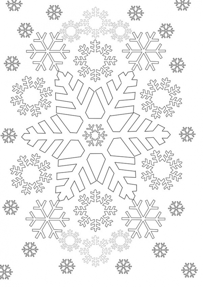 Get This Snowflake Coloring Pages for Preschoolers 47571
