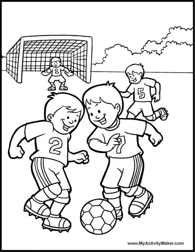 Coloring Pages Of Soccer 20 Free Printable Soccer Coloring Pages ... | 960x743