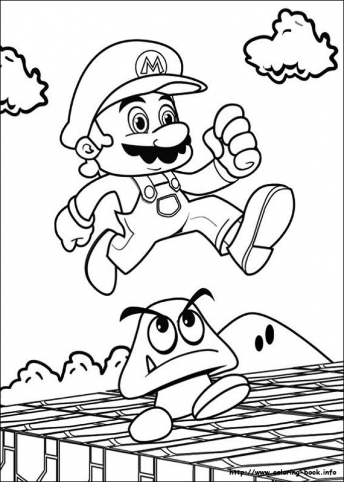 Super Mario Coloring Pages for Kids   bc4jz