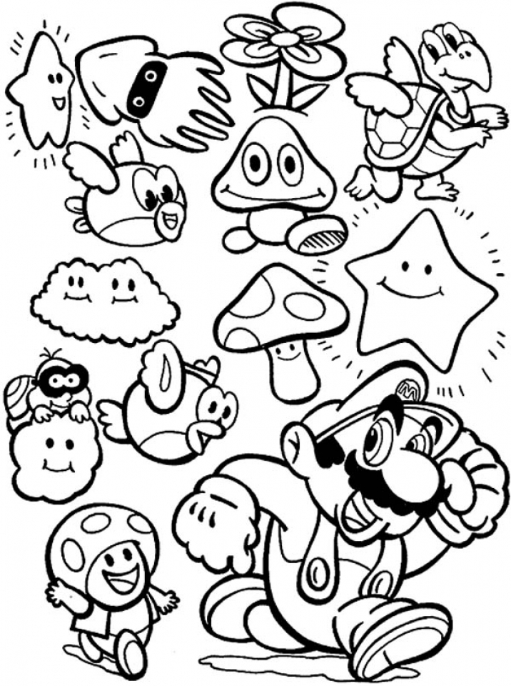 Super Mario Coloring Pages Printable   fc533
