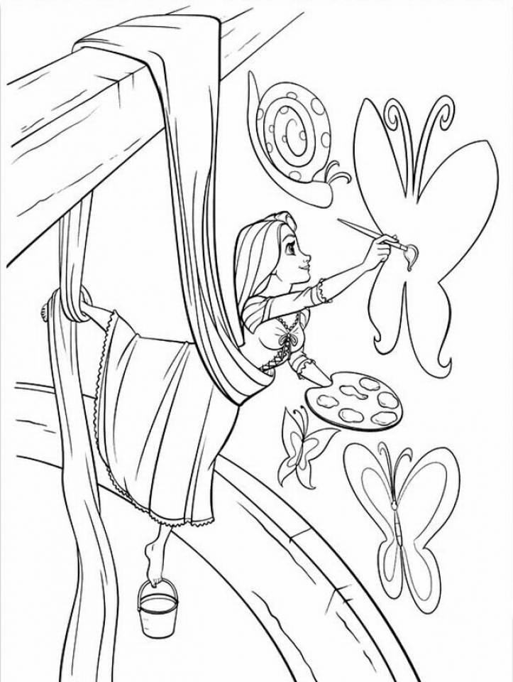 Tangled Coloring Pages Online   7arrg