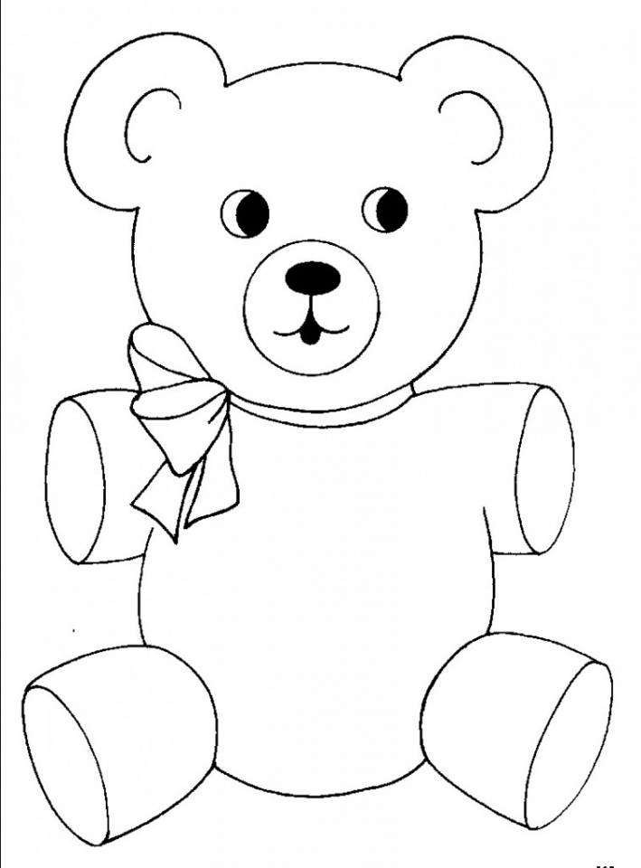 Teddy Bear Coloring Pages Free   8ahtj