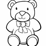 Teddy Bear Coloring Pages Kids Printable   ay649