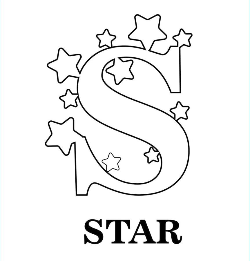 Get This Star Coloring Pages Letter S Is for Stars