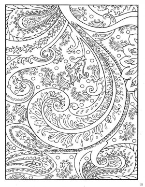 Abstract floral design coloring pages – 78493