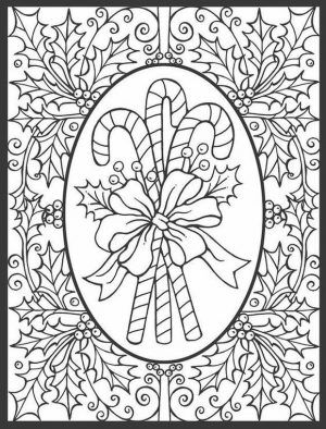 Adult Christmas Coloring Pages Free Printable zkr3
