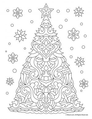 Adult Christmas Coloring Pages Printable tre7