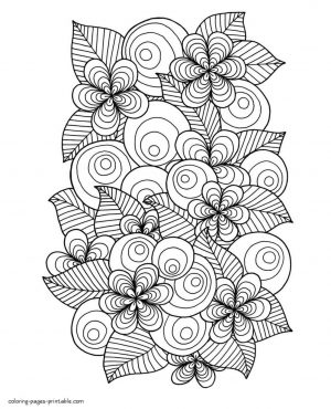 Adult Coloring Pages Floral Patterns Printable dxt9