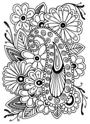 Adult Coloring Pages Paisley 1psl
