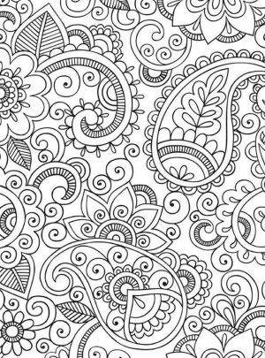 Adult Coloring Pages Paisley to Print 3mam