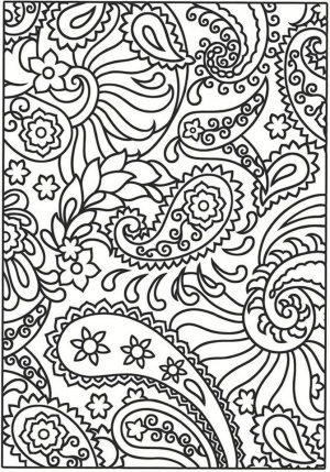 Adult Coloring Pages Paisley to Print 7dvr