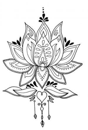 Adult Coloring Pages Patterns Flowers Free Printable ztq4