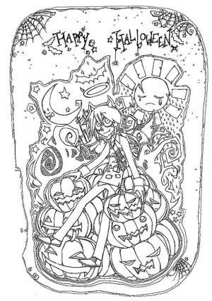 Adult Halloween Coloring Pages Teenage Vampire 5tnv