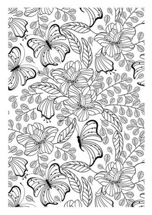 Advanced coloring pages of Butterfly for Adults – 7fg5