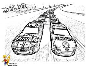 American Nascar racing car coloring pages for boys – 62917