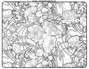 Art Deco Patterns Coloring Pages Free Printable for Adults – ugf4546