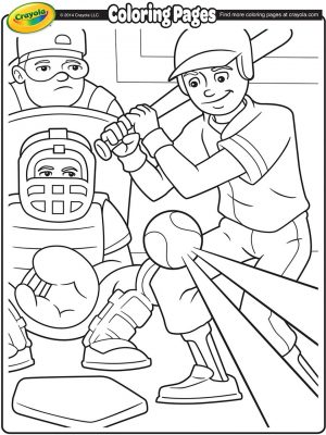 Baseball Coloring Pages Online – 64885