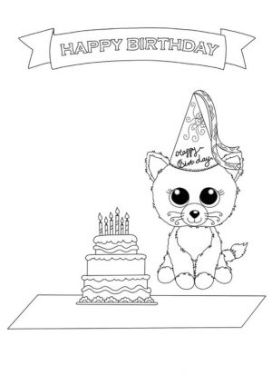 Birthday Beanie Boo Coloring Pages Printable 1tfr