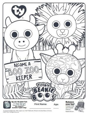 Beanie Boo Coloring Pages