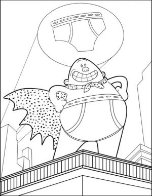 Captain Underpants Coloring Pages for Kids 112z