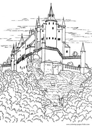 Castle Coloring Pages for Adults – b47ch