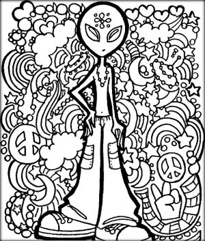 Cool Trippy Coloring Pages for Grown Ups – tf5a9
