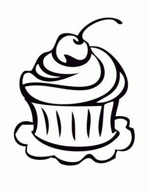 Cupcake Coloring Pages for Kids – 9vb51