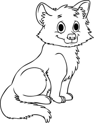 Cute Baby Wolf Coloring Pages – 66573