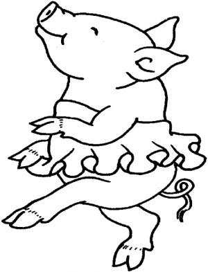 Cute Pig Coloring Pages – 7j3m1