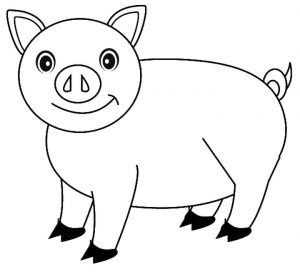 Cute Pig Coloring Pages – 84b91